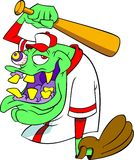 Monster. Green monster in baseball uniform Royalty Free Stock Photography