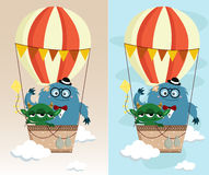 Monster In Air Balloon Stock Photo