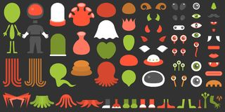 Monster and alien creation kit Royalty Free Stock Photography