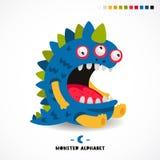 Monster alphabet. Letter C. Royalty Free Stock Photo