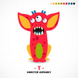 Monster alphabet. Letter T. Royalty Free Stock Images