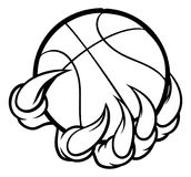 Monster or animal claw holding Basketball Ball Stock Images