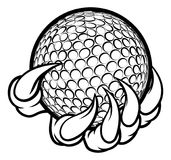 Monster or animal claw holding Golf Ball royalty free illustration