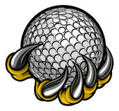 Monster or animal claw holding Golf Ball Stock Images