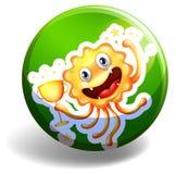 Monster badge Stock Image