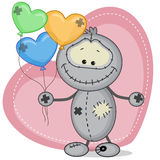 Monster with a balloons Stock Photo