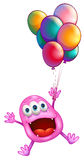 A monster with balloons Royalty Free Stock Photos