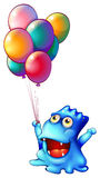 A monster with balloons Royalty Free Stock Photography