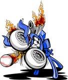 Monster Baseball Pitching Machine Cartoon royalty free illustration