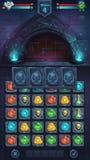 Monster battle GUI closed door Stock Photo
