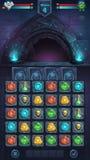 Monster battle GUI opened door Royalty Free Stock Images