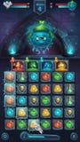 Monster battle GUI slug nature Royalty Free Stock Images