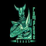 Monster Beast Rampage vector illustration vector illustration