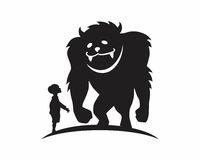 Monster beast silhouette Royalty Free Stock Images