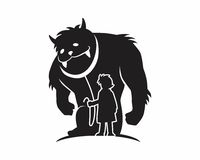 Monster beast silhouette Royalty Free Stock Photo