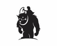 Monster beast silhouette Royalty Free Stock Image