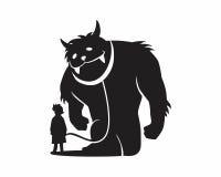 Monster beast silhouette Stock Photo