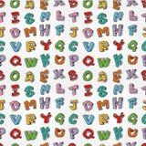 Monster bezeichnet nahtloses Muster mit Buchstaben Lizenzfreie Stockfotografie