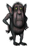 Monster with a big head. 3D render of a monster with a big head and ears Royalty Free Stock Photos