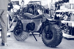 Monster-bike. Black and white Royalty Free Stock Photography