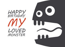 Monster birthday Stock Photos