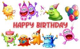 Monster birthday Stock Image