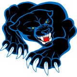 Monster blackl and blue puma cat Stock Photo