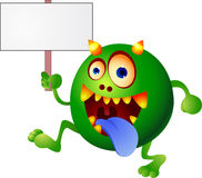 Monster with blank sign Stock Photo