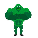 Monster BODYBUILDER on a white background. Monster with big musc Royalty Free Stock Photography