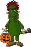 Monster Boy. This illustration that I created depicts a boy dressed as a monster for Halloween Royalty Free Stock Photography