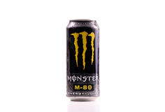 Monster Brand M-80 Energy Drink. On White Stock Image