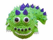 Monster cake. Green Monster cake ,Halloween cake royalty free stock photos