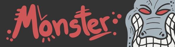 Monster card Stock Image
