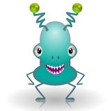 Monster cartoon. Illustration of cartoon green monster on a white background Royalty Free Stock Photography