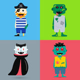 Monster cartoon characters  silhouette Stock Photo