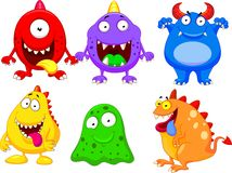 Monster Cartoon Collection Stock Photos