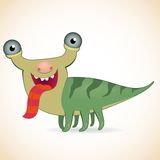Monster. Cartoon funny put out one's tongue monster Royalty Free Stock Photos