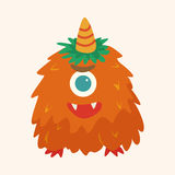 Monster cartoon theme elements vecotr,eps Royalty Free Stock Images