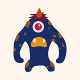 Monster cartoon theme elements vecotr,eps Royalty Free Stock Photography