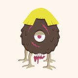 Monster cartoon theme elements vector,eps Royalty Free Stock Photo