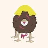 Monster cartoon theme elements vector,eps. Vector illustration file Royalty Free Stock Photo