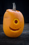 Monster carved Jack O Lantern Royalty Free Stock Photography