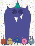 Monster Celebration Card_eps Stock Photography