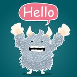 Monster character cartoon set monster character cartoon say hello. Monster character cartoon say hello Royalty Free Stock Photography