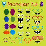 Monster and Character Creation Kit. Fully editable, scalable and customizable. Vector set EPS 8 Stock Photography