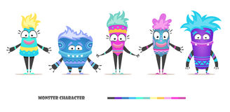 Monster character set Royalty Free Stock Photography