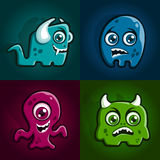 Monster characters Royalty Free Stock Photos