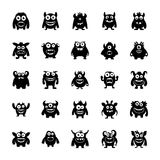 Monster Characters Pack. The monster character pack icons are depicting scary and unusual creatures in a cartoonic way to help the developers and designers in Royalty Free Stock Photo