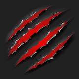 Monster claw. Black and red in vector royalty free illustration