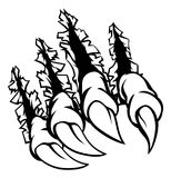 Monster Claws Graphic. A monster claw ripping and tearing through the background stock illustration
